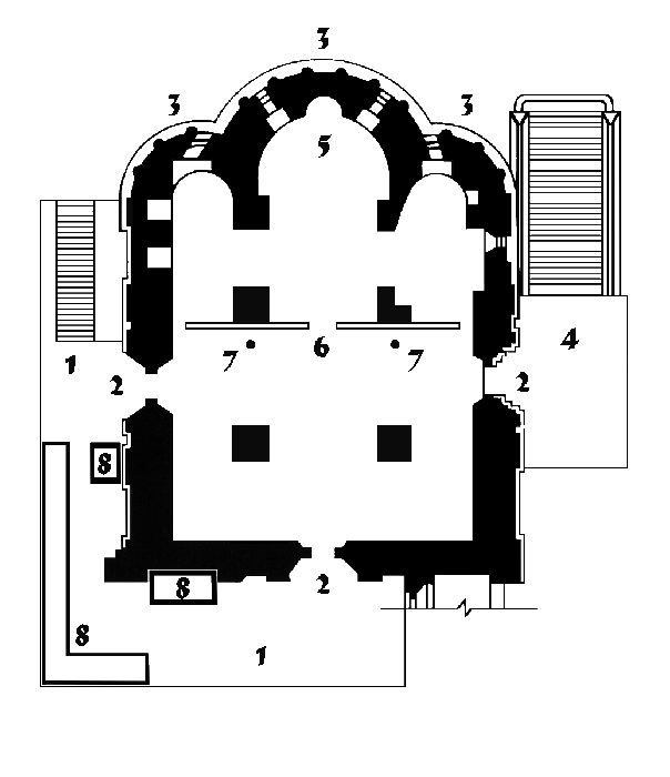 Plan-scheme of the Church of the Deposition of the Robe