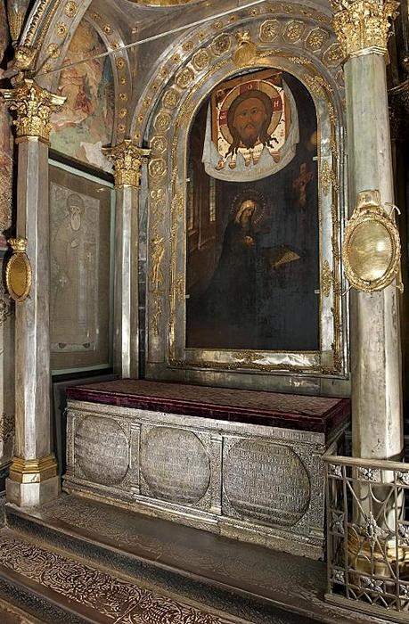 Reliquary of Metropolitan Jonah in the Assumption Cathedral in the Moscow Kremlin