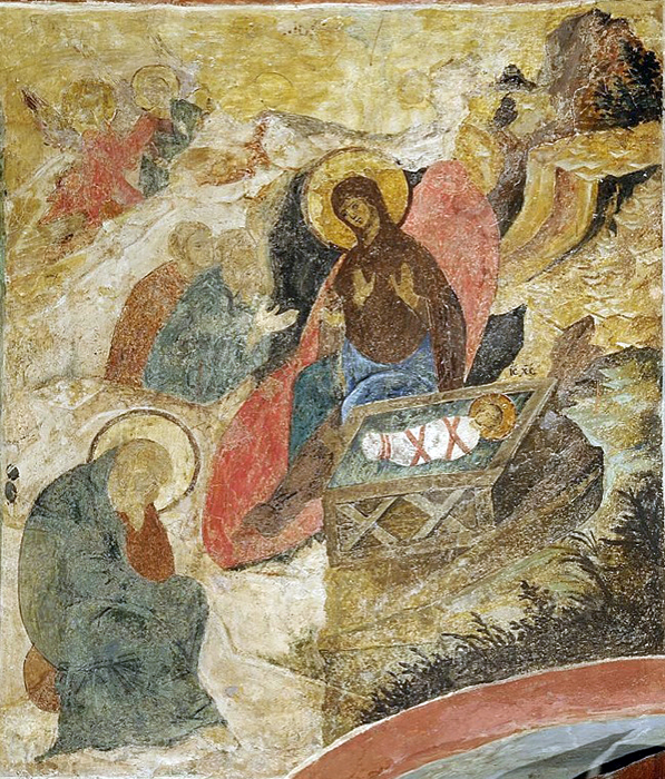 """The Nativity"" scene from the Akathist Hymn"
